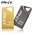 Attache pny usb 3.0 mini usb flash drive t3 gold edition 16 gb 16g 32 gb 32g 64 gb 64g USB3.0 apoyo certificación oficial