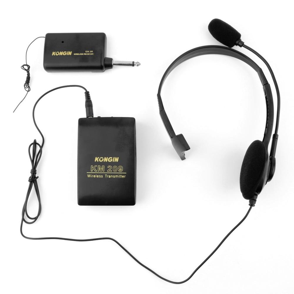 Portable VHF Stage Wireless Lavalier Lapel Headset Microphone System Mic FM Transmitter Bodypack Transmiter