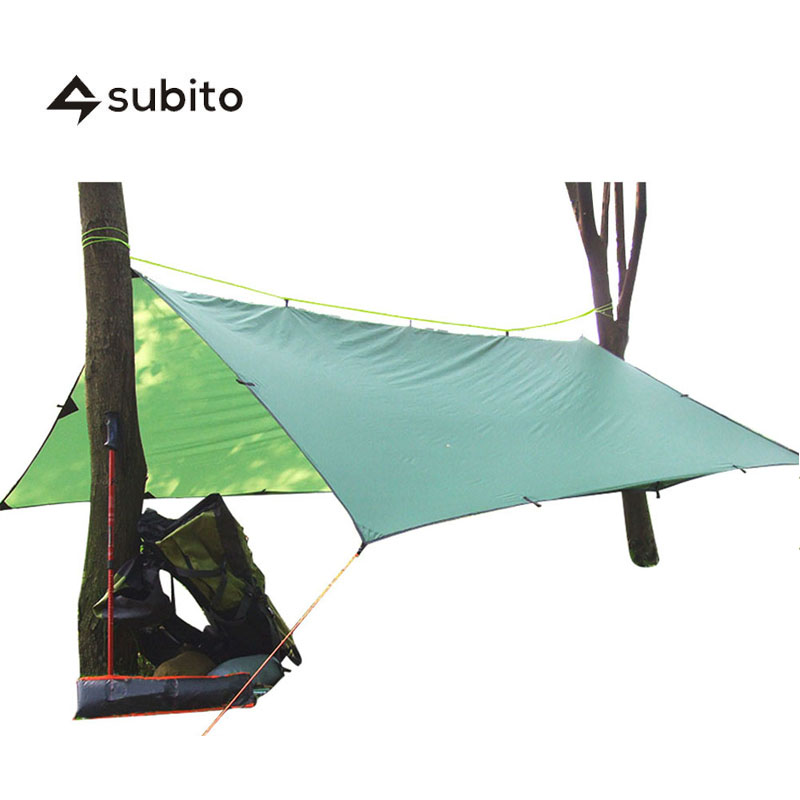 SUBITO 4.5m*6m Multi-function Outdoor SIL Tarp Waterproof High Quality Sun Shelter Super Light Camping Tarp Travel Camping Tent 2 1 5m outdoor tarp sun shelter high quality awning camping