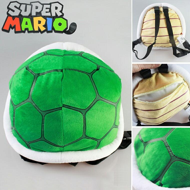 Hot cartoon children's 3D plush backpack cool Super Mario Bros plush school bag cosplay turtle bag toy for kindergarten boy girl super mario bros plush green shell backpack bag purse cosplay super funny and cool rare