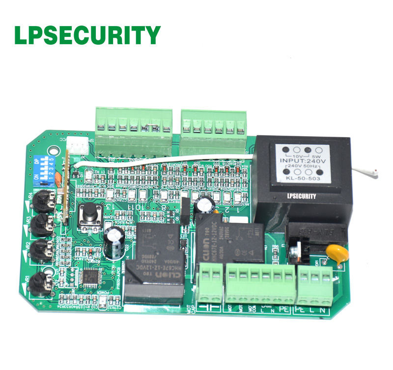 Image 2 - gate motor controller circuit board electronic card for sliding gate opener soft start function pedestrian mode 110V or 220V-in Access Control Kits from Security & Protection