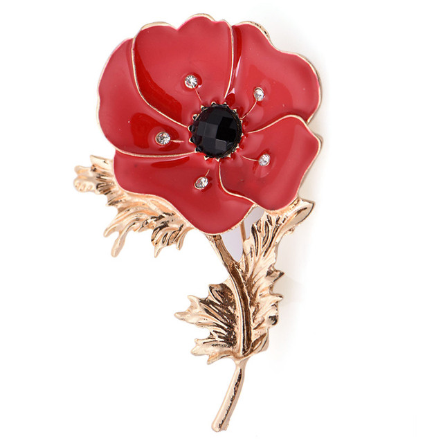 Princess memorial enamel brooches wedding red poppy flower corsage princess memorial enamel brooches wedding red poppy flower corsage fashion oil painting brooch lady drop shipping mightylinksfo