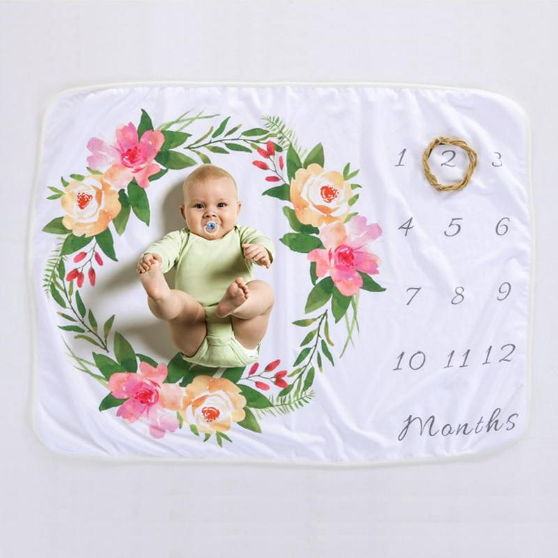 Baby Blankets Swaddle Wrap Newborn Fashion Bathing Towels Cartoon Flower Printed Soft Blanket Infant Kids Photography Props pink floral towels