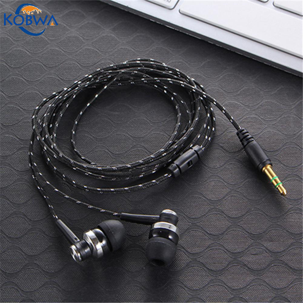 Kobwa Fashion Wired Earphone Super Deep Bass In Ear Head Phones Music Studio Earbuds Sports Running Headset For iPhone MP3 MP4 -in Earphones & ...