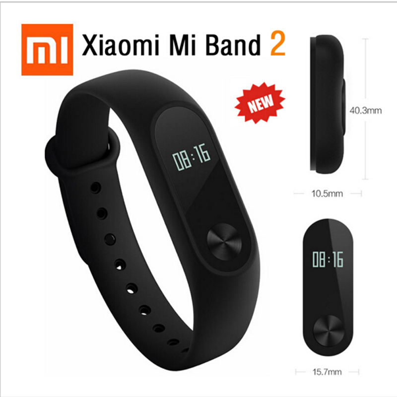Original Xiaomi Mi Band 2 Miband Wistband Bracelet Smart Heart Rate Fitness Touchpad OLED Screen Display