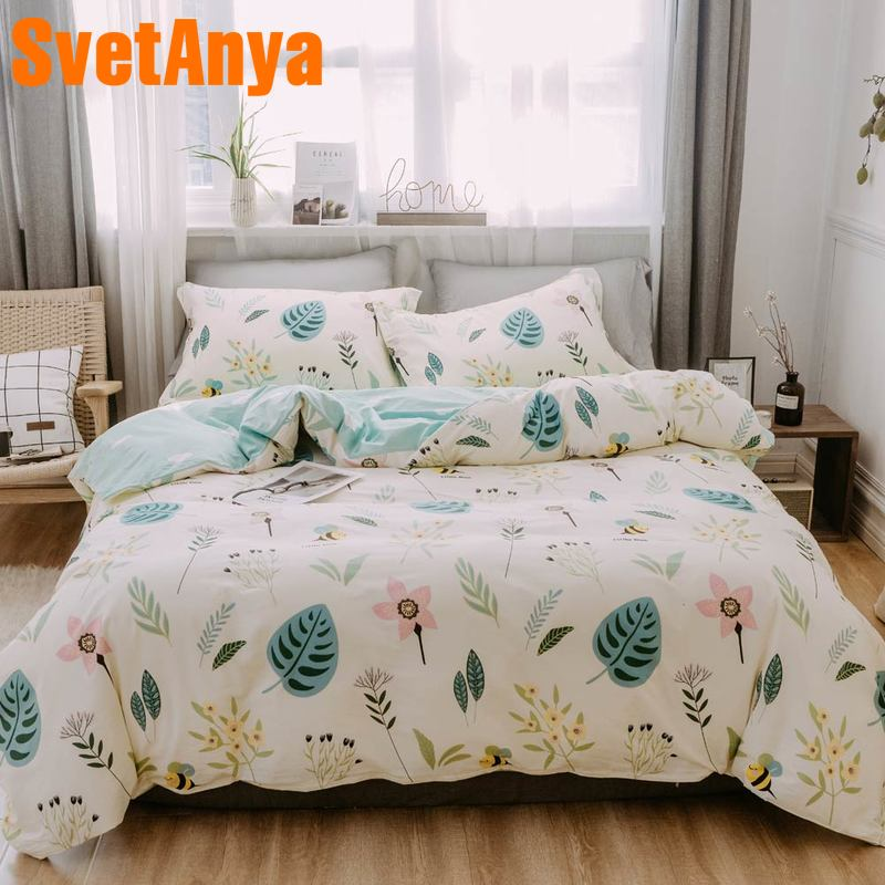 Svetanya 2019 Spring series Bedding Set 100 Cotton Bed Linen Single Double Full Queen SizeSvetanya 2019 Spring series Bedding Set 100 Cotton Bed Linen Single Double Full Queen Size