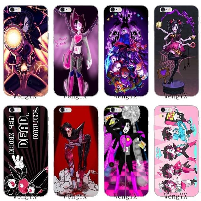 anime Undertale Mettaton Slim silicone Soft phone case For iPhone 4 4s 5 5s  5c SE 6 6s plus 7 7plus 8 8plus X