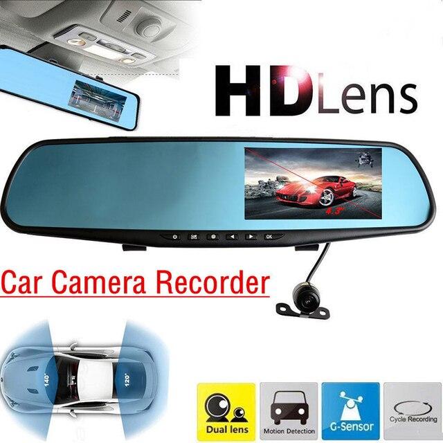 "4.3"" TFT Dual Len HD Car SUV DVR Waterproof Circular Video Dash Camera G-Sensor Video Tachograph Cam Driving Recorder"