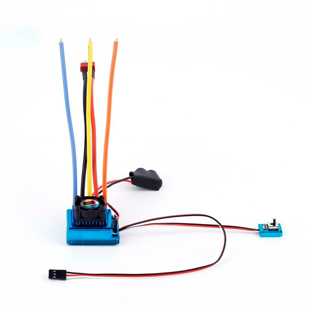 120A ESC Sensored Brushless Speed Controller Pour 1/8 1/10 Voiture/Camion Sur Chenilles Voiture Véhicule Utilisé 2018 Top Vente Dropshipping