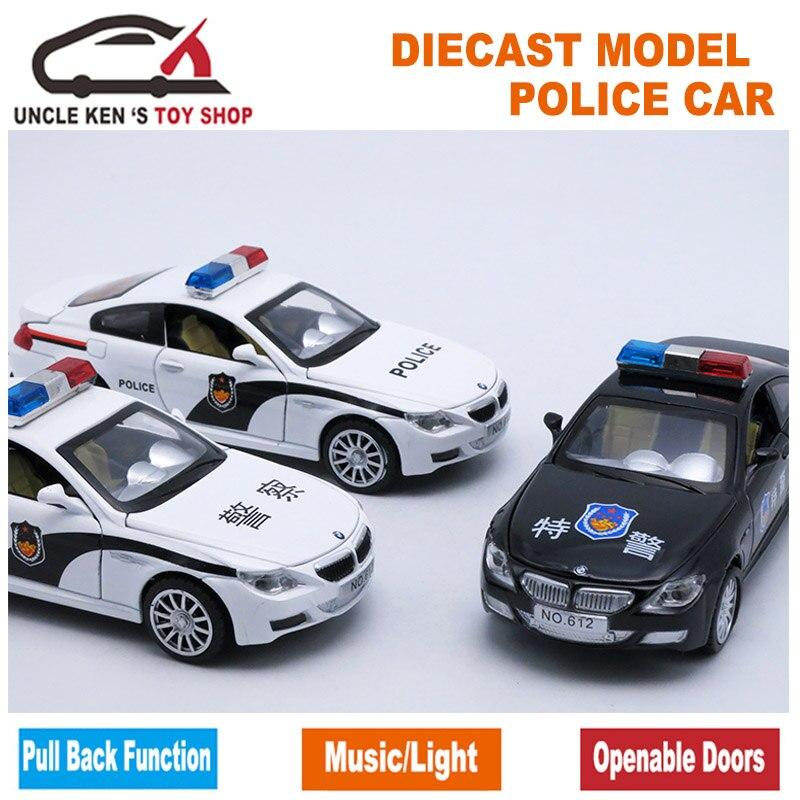 Diecast Sonido Niño Modelo De Policía Coche Juguete Luz Y D2W9HIEY