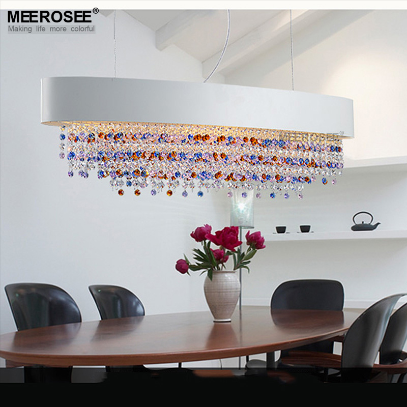 Gorgeous colorful crystal pendant lights fixture rectangle luminaire hanging drop restaurant lamp crystal lustres lighting системный блок asus g11cd ru008t