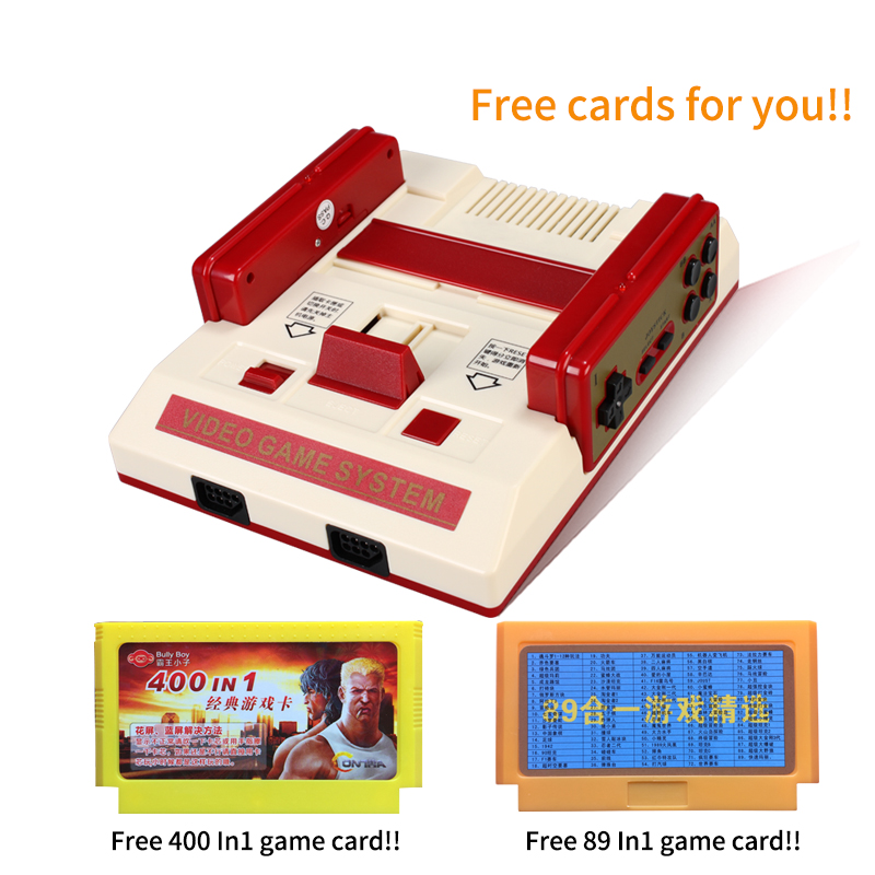 New Video Game Console To TV With Wireless Gamepad Controller HD TV Out For 8 bit Family TV game with free two game cards castles of burgundy board game 2 4 players cards games send english instruction funny game for party family with free shipping