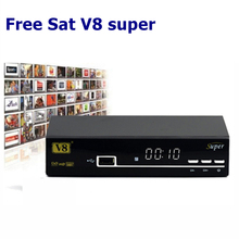1080 P Full HD DVB-S2 Receptor de TV Por Satélite V8 Súper Decodificación 64 M Bits de Flash Receptor de Satélite DVB-S2 no incluido Línea Cccam