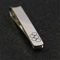 Customized Silver Tie Pins 925 Solid Silver We Love You Tie Clip Personalized Christmas Gift Father
