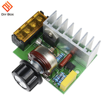 4000W 0-220V AC SCR Electric Voltage Regulator Motor Speed Controller Dimmers Dimming Speed With Temperature Insurance voltage regulator 4000w ac 220v scr power regulator dimming dimmers motor speed controller thermostat electronic module