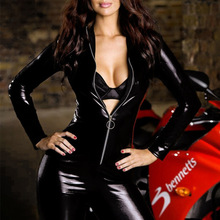 Leather Female Bodysuit Fashion Game Clothes Pole Dancing Jumpsuits DS Costumes