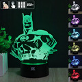 HUI YUAN Batman 3D Night Light RGB Changeable Mood Lamp LED Light DC 5V USB Decorative Table Lamp Get a free remote control