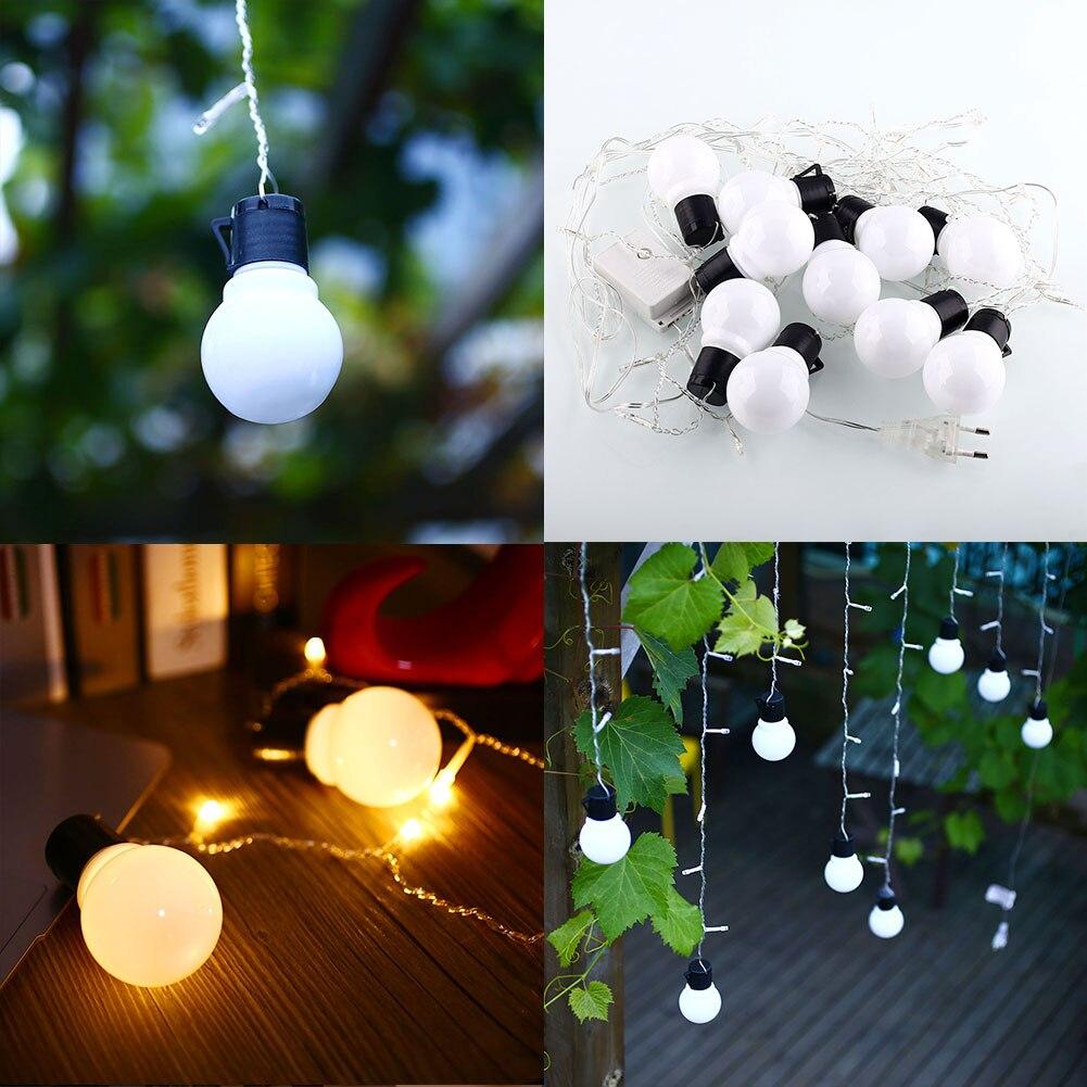 <font><b>48</b></font> LED 10 Globe Bulb Ball Romantic Xmas String Curtain <font><b>Light</b></font> Party <font><b>Warm</b></font> <font><b>White</b></font>