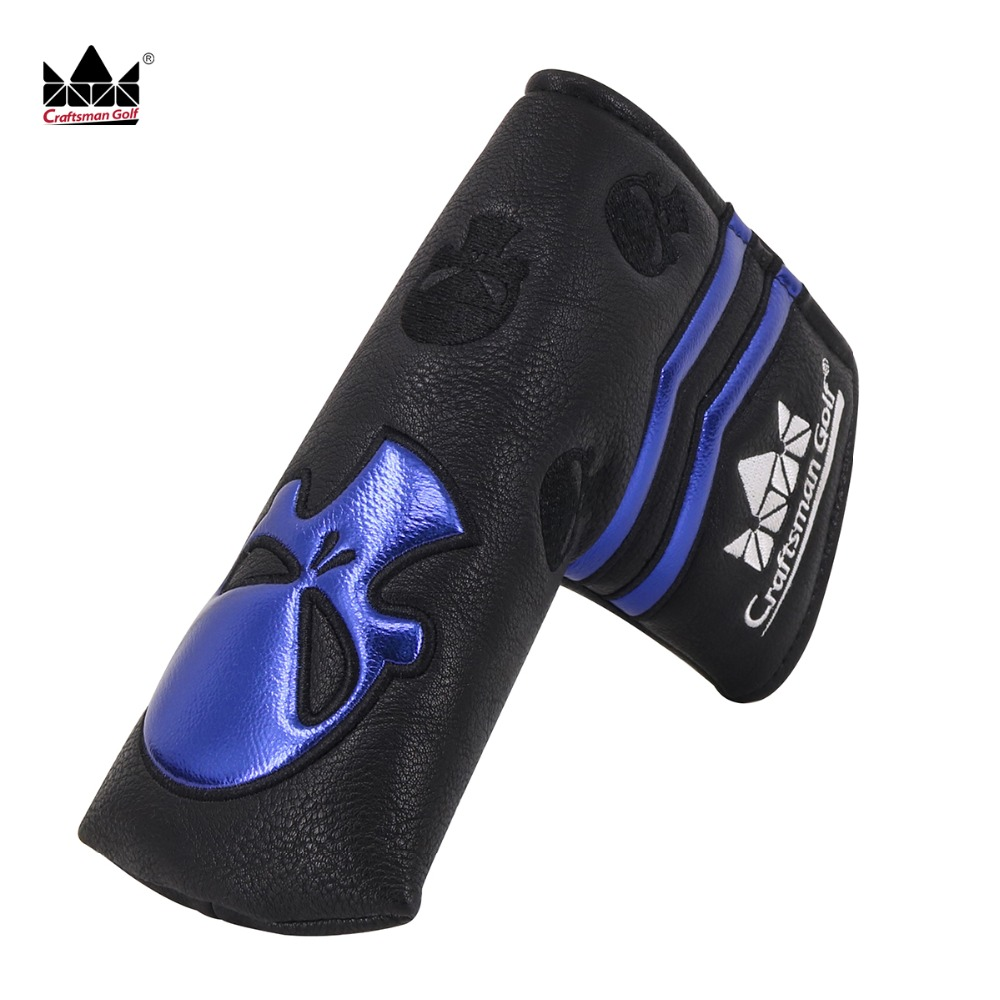Craftsman Putter Cover Blade Ping With Magnetic Closure Skull Embroidery Putter Cover Sports Waterproof Free Shipping