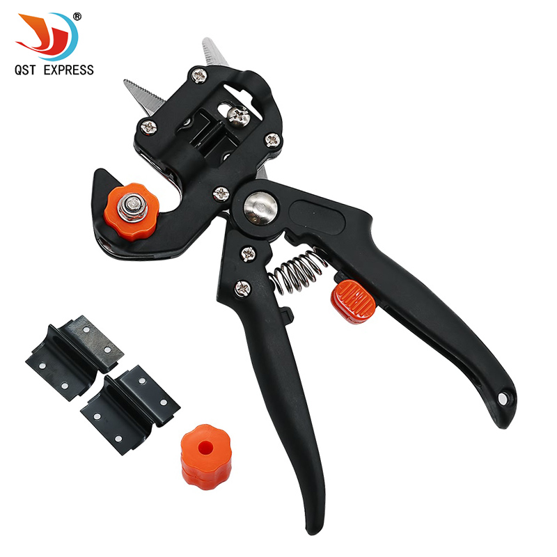 QSTEXPRESS Grafting machine Garden Tools with 2 Blades Tree Grafting Tools Secateurs Scissors grafting tool Cutting Pruner Q002