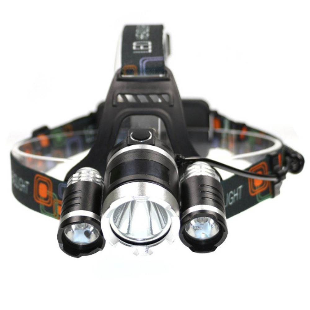 1500LM 3 Lights Fixed Focus T6 Headlamp Rechargeable Headlight for Fishing Hunting Camping Riding Flashlight Torch Light