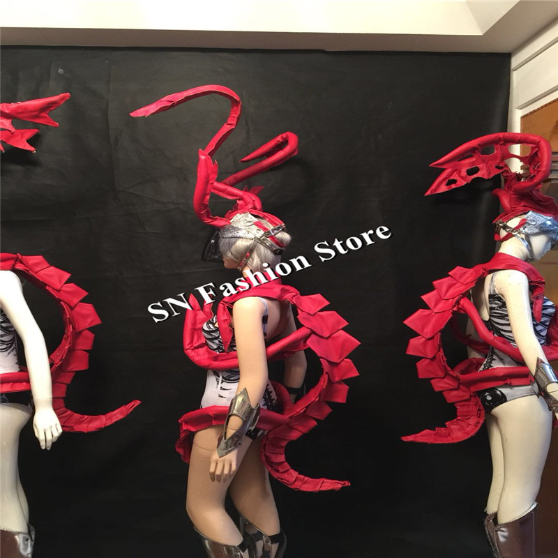BC57 Ballroom dance costume sexy women wears stage clothes party Festival dj singer dresses nightclub mirror suit robot show bar