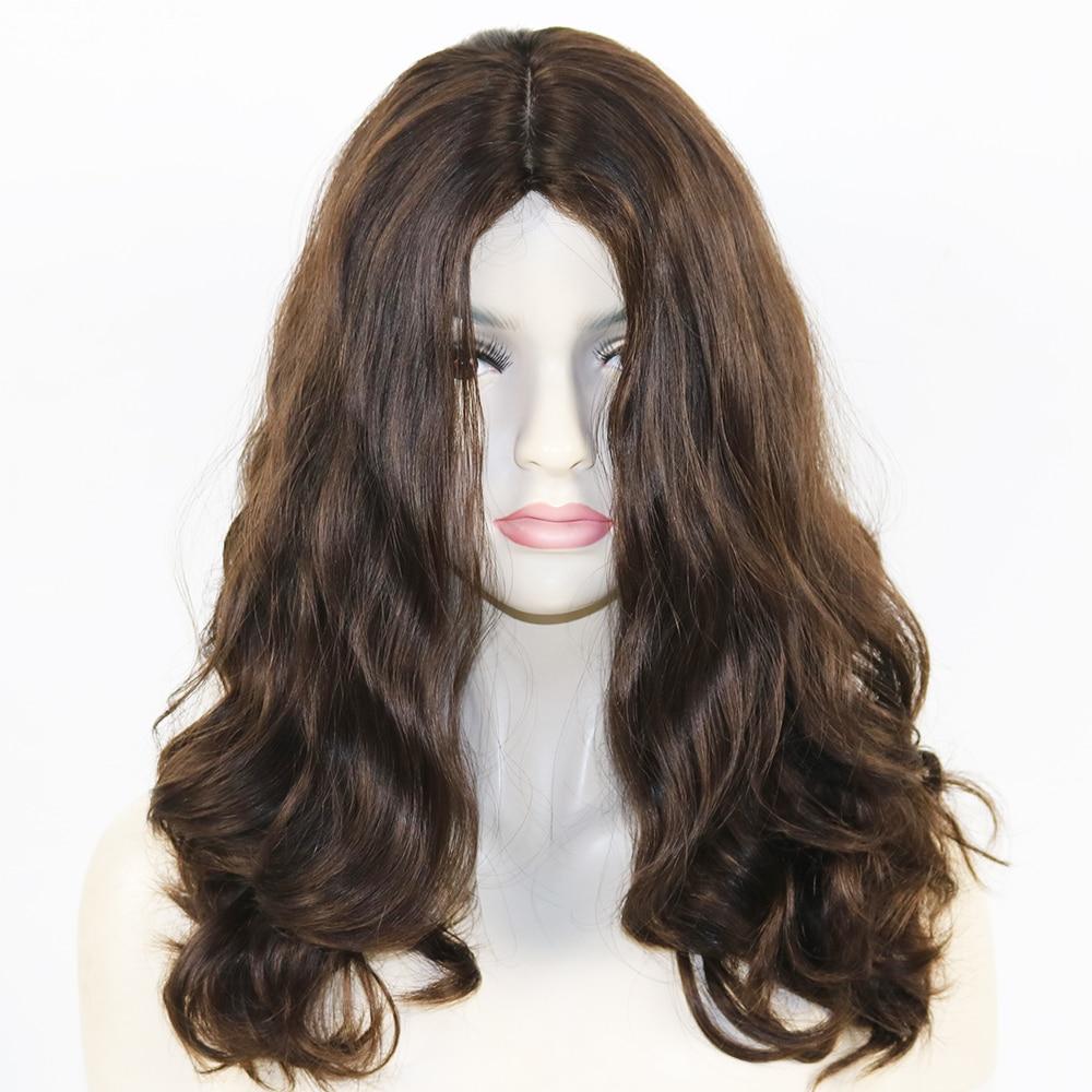 Eversilky Melhor Qaility 100% Virgem Europeu Cabelo Humano Super Onda Solta Peruca Judaica com Silk Top Kosher 4x4 perucas Onduladas