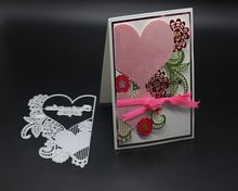 Heart-shaped flower design metal cutting mold scrapbook album embossed relief DIY paper card making decorative crafts