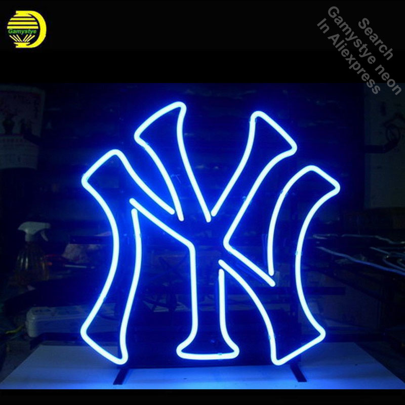 Neon Sign for Sport Teams NYY Neon Tube Sign Commercial Light Lamparas handcraft Publicidad Lamps Store Displays neon light sign