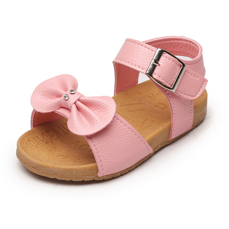 Summer Child Sandals Kids Baby Shoes Infant Sandals Children Casual Shoes With Bow Kids Princess Shoes