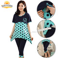 Polka Dot Cotton Summer Women For Pregnant Chic Maternity Wear Lactation Clothing For Feeding Pajama Nursing Clothes Nightgown