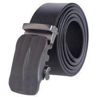 Cowhide Men Leather Belt With Automatic Buckle Men Belt Business Luxury Designer Belts For Men Ceinture Homme Luxe Marque