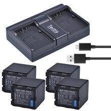 Tectra 4 шт. VW-VBN260 Li-Ion Батарея + USB двухканальный Зарядное устройство для цифрового фотоаппарата Panasonic HC-X800 HC-X900 HC-X900M HC-X910 HC-X920 HC-X920M