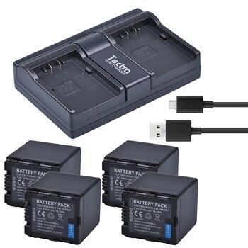 Tectra 4PCS VW-VBN260 Li-ion Battery + USB Dual Channel Charger for Panasonic HC-X800 HC-X900 HC-X900M HC-X910 HC-X920 HC-X920M