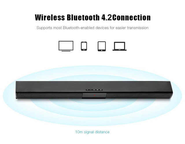 20W TV Sound Bar Wired and Wireless Bluetooth Home Surround SoundBar for PC Theater TV Speaker Consumer Electronics