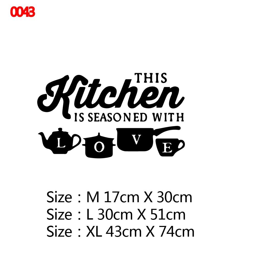 21 стиль большая кухонная Настенная Наклейка виниловая наклейка s наклейки для украшения дома аксессуары Фреска домашний декор обои плакат - Цвет: Style10