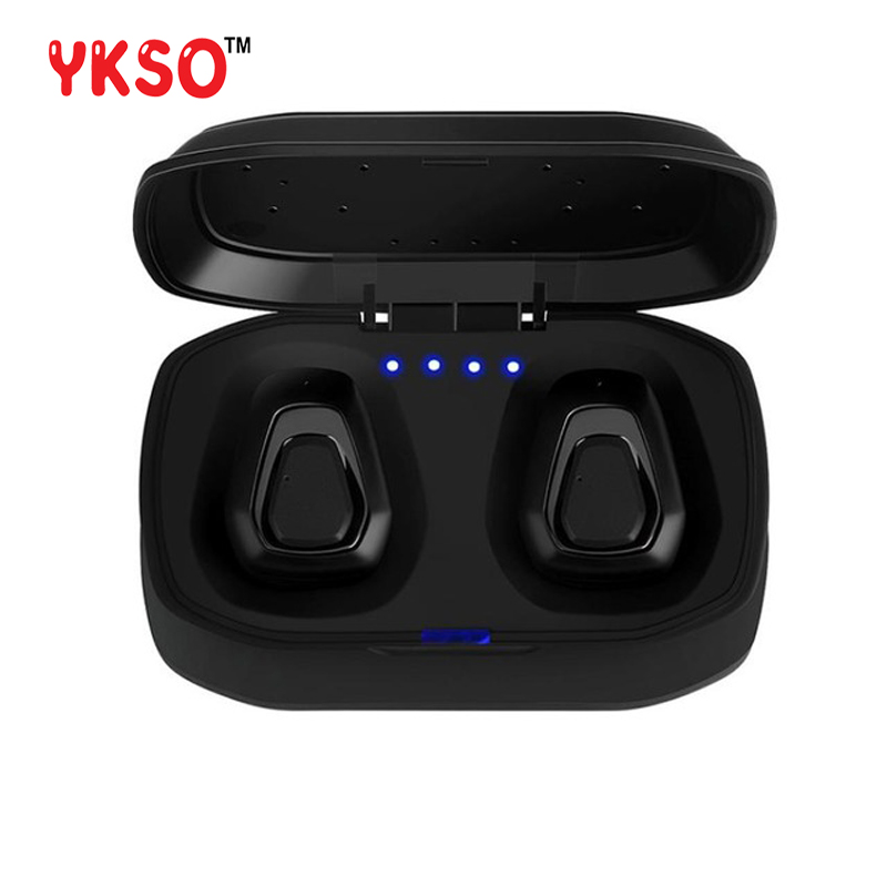 YKSO bluetooth 4.2 earphone wireless Hifi earbud A7 TWS Portable audio and video stereo with microphone with Charger box