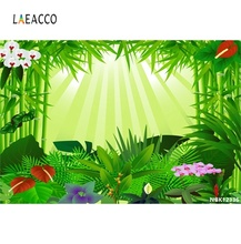 Laeacco Vintage Tropical Rainforest Flowers Portrait Natural Scene Photographic Background Photography Backdrop For Photo Studio