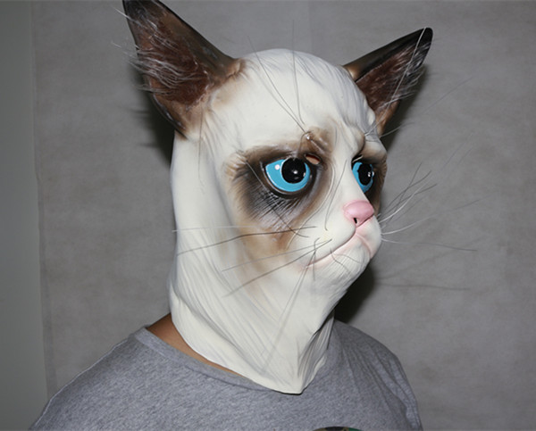 Aliexpress.com : Buy Funny Angry Cat Halloween Cosplay Animal Masks Full Face Mask Latex Horror