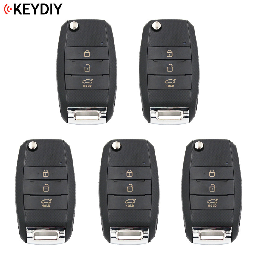 5 PCS 3 Buttons Universal KEYDIY B19 3 K Style Remote Control Key B Series for