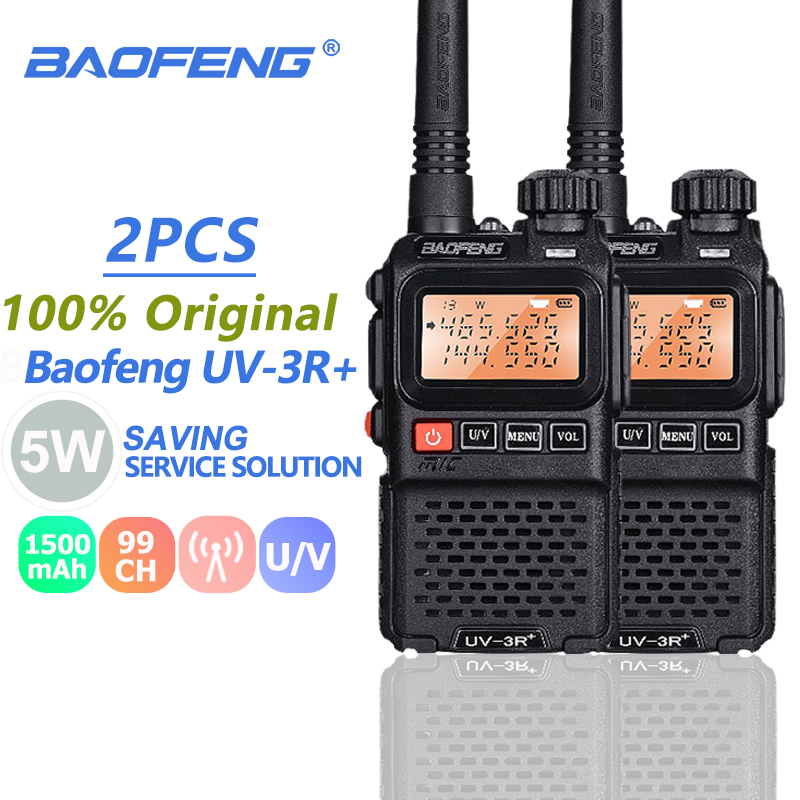 2pcs Baofeng UV-3R Plus Walkie Talkie Portable UHF VHF Mini UV 3R + CB Radio VOX Flashlight FM Transceiver Ham Radio Amador UV3R2pcs Baofeng UV-3R Plus Walkie Talkie Portable UHF VHF Mini UV 3R + CB Radio VOX Flashlight FM Transceiver Ham Radio Amador UV3R
