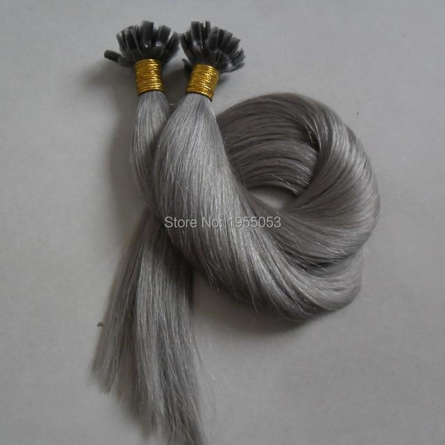 20 50cm Nail Tip U Human Hair Pre Bonded Extensions Wavy