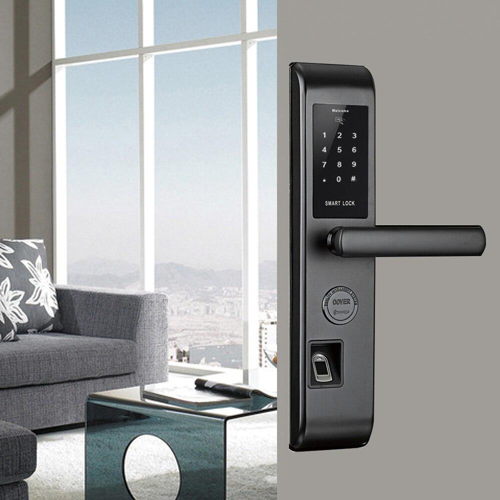 Wi-Fi умный дверной замок, умный считыватель отпечатков пальцев сканирование паролем Блокировка Bluetooth отпечатков пальцев умный БЕСКЛЮЧЕВОЙ з...