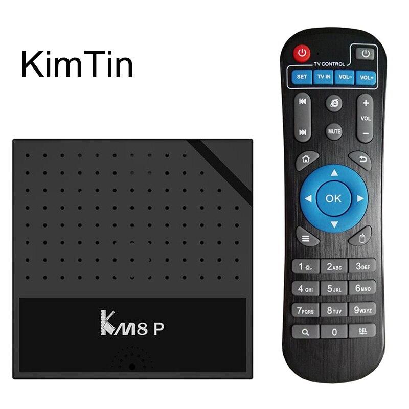 KimTin Amlogic S912 Octa core Android 6.0 TV BOX H.265 4 K 100 M LAN 2.4 WiFi HDMI 2.0 Streaming DLNA lecteur multimédia intelligent Vs X96
