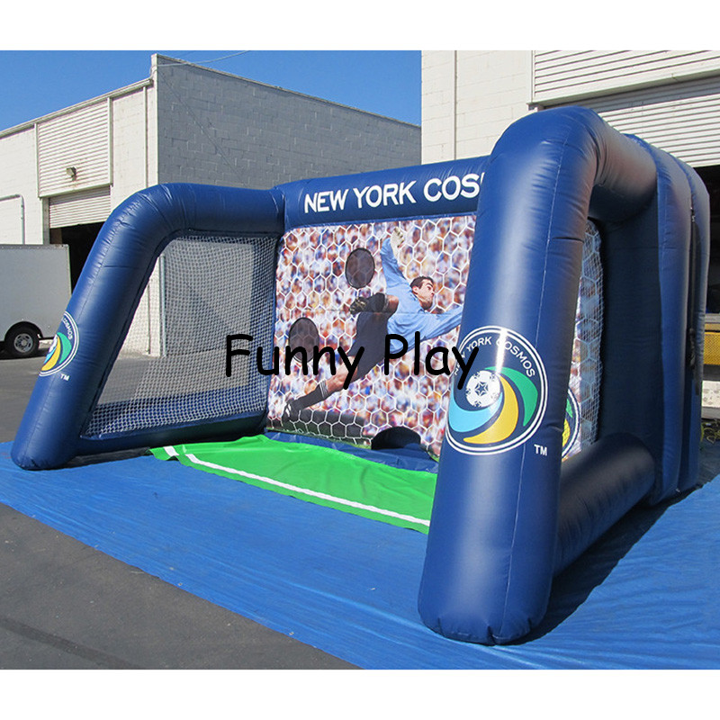 Aliexpress Com Buy G319 Soccer Shooting Custom: Inflatable Football Goal Speed Cage Inflatable Soccer