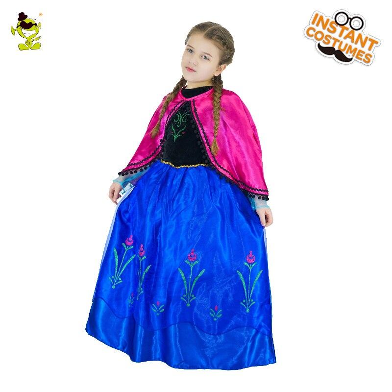 2018 Новая мода девушки принцесса костюмы платья детский день шоу Белоснежка Vestidos с платье плащ дети Косплэй костюм
