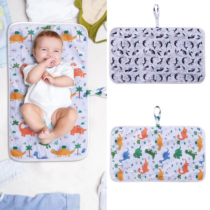 Portable Waterproof Cotton Baby Diaper Changing Mat Foldable Baby Care Front Soft Travel Nappy Change Floor Play Pad Baby Care