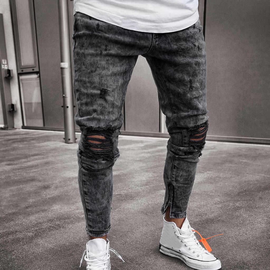 umanistico Portale Democrazia  Brand Men Pants Hip Hop Harem Joggers Fashion Mens Skinny Stretch Denim  Distressed Ripped Freyed Slim Fit Jeans TrousersZ0314 Skinny Pants  -  AliExpress