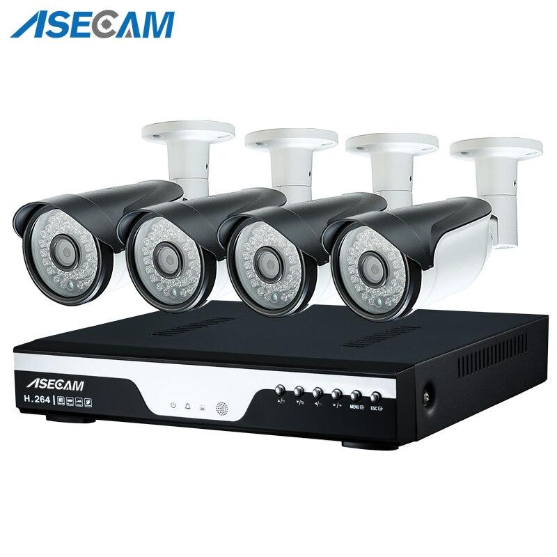 4ch HD 1920 p AHD Câmera de CCTV DVR Gravador de Vídeo Ao Ar Livre Preto Bala 2mp Câmera de Segurança Kit Sistema de Vigilância P2P alerta de e-mail