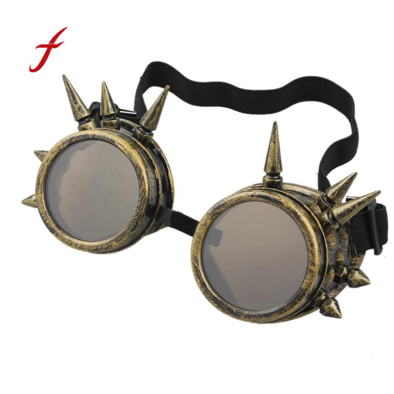 Feitong Luxury Brand Women Sunglasses Rivet Steampunk Windproof Mirror Vintage Gothic Lenses Goggles Ladies Sun Glasses